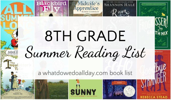 8th grade reading list for summer!