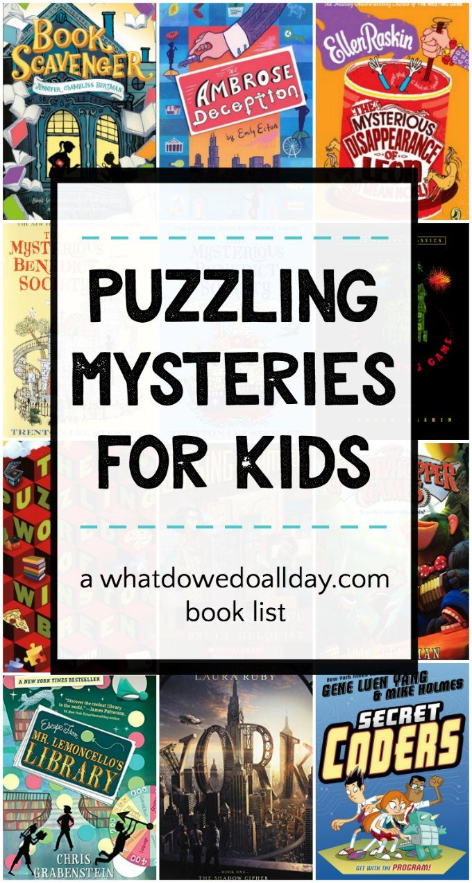 These puzzle mysteries will turn kids into junior sleuths.