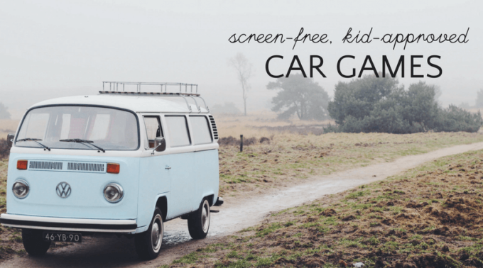 Screen-free road trip games for kids and families.