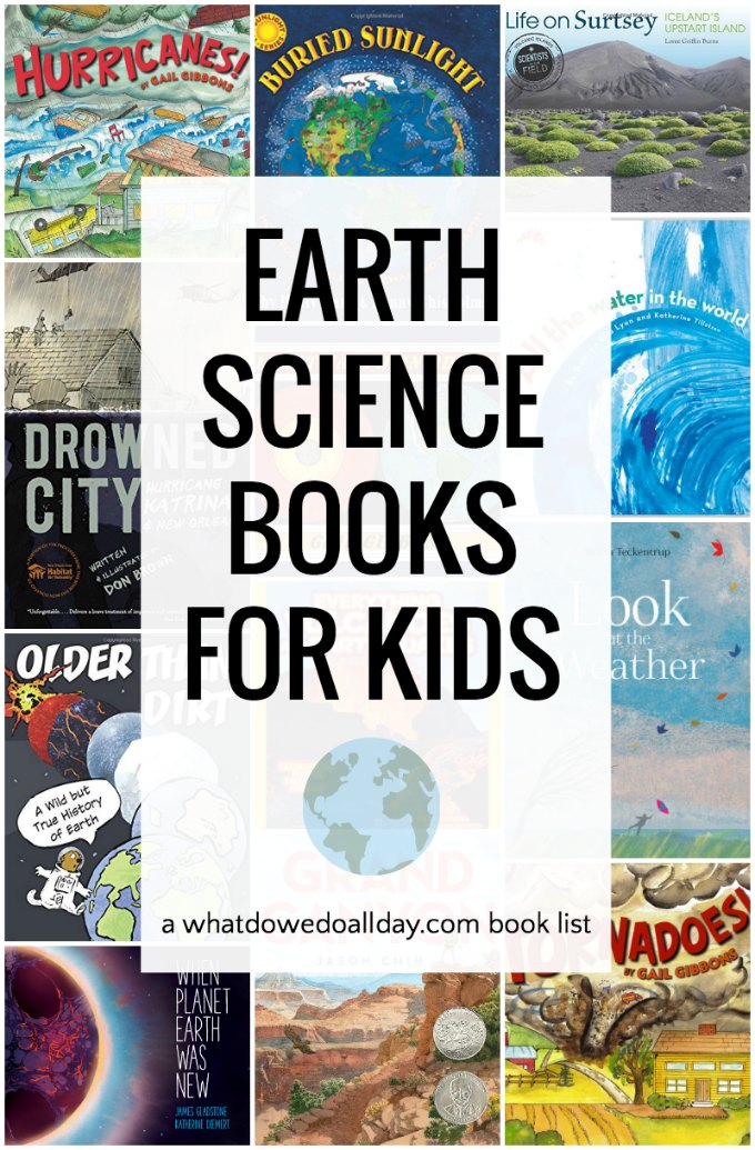 The best nonfiction earth science books! Books about volcanoes, earthquakes, weather, the ocean and more. Click through for the entire list.