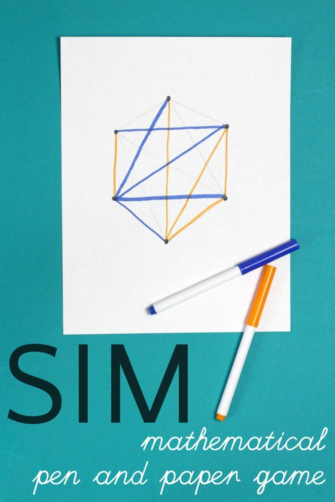 How to play the game of Sim, a pencil and paper game for kids and grownups