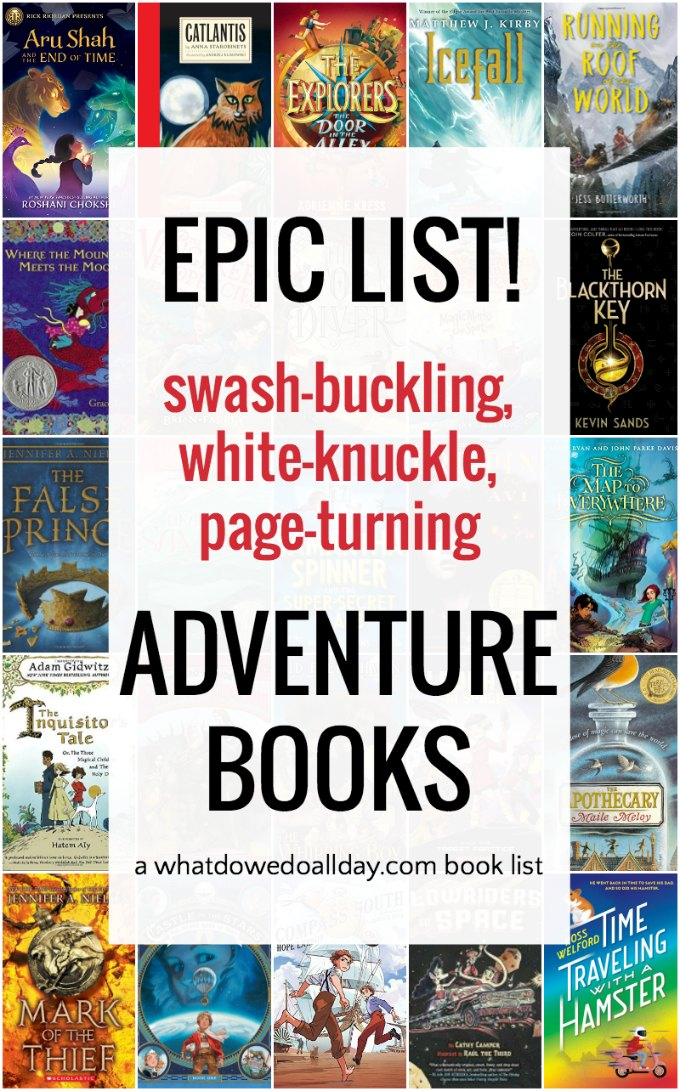 Giant list of adventure books for kids