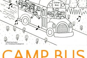 Camp Bus Coloring Page
