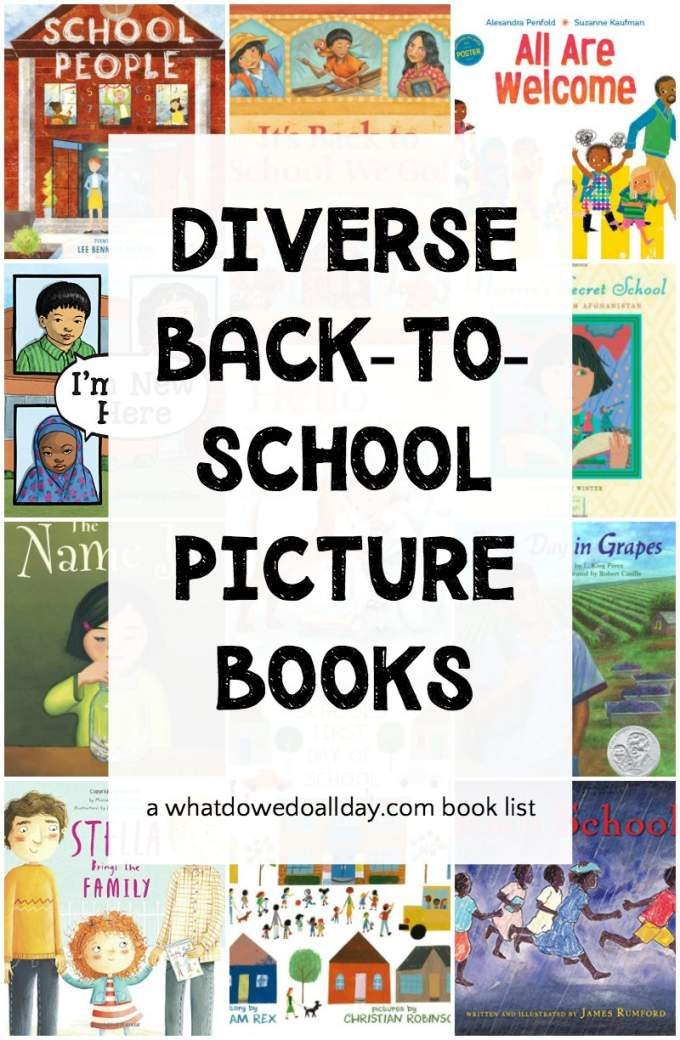 Diverse back to school picture books
