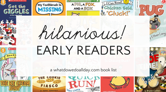 Hilarious and funny early readers for kids.