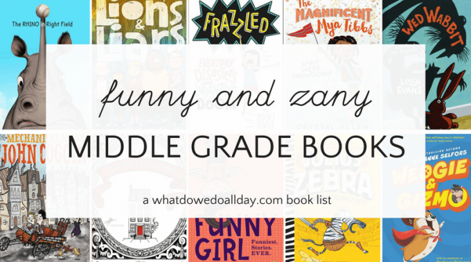 Funny middle grade books for kids age 8-13 year olds.