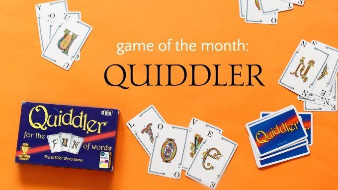 Quiddler is a family literacy game