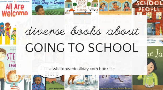 Diverse school books for children