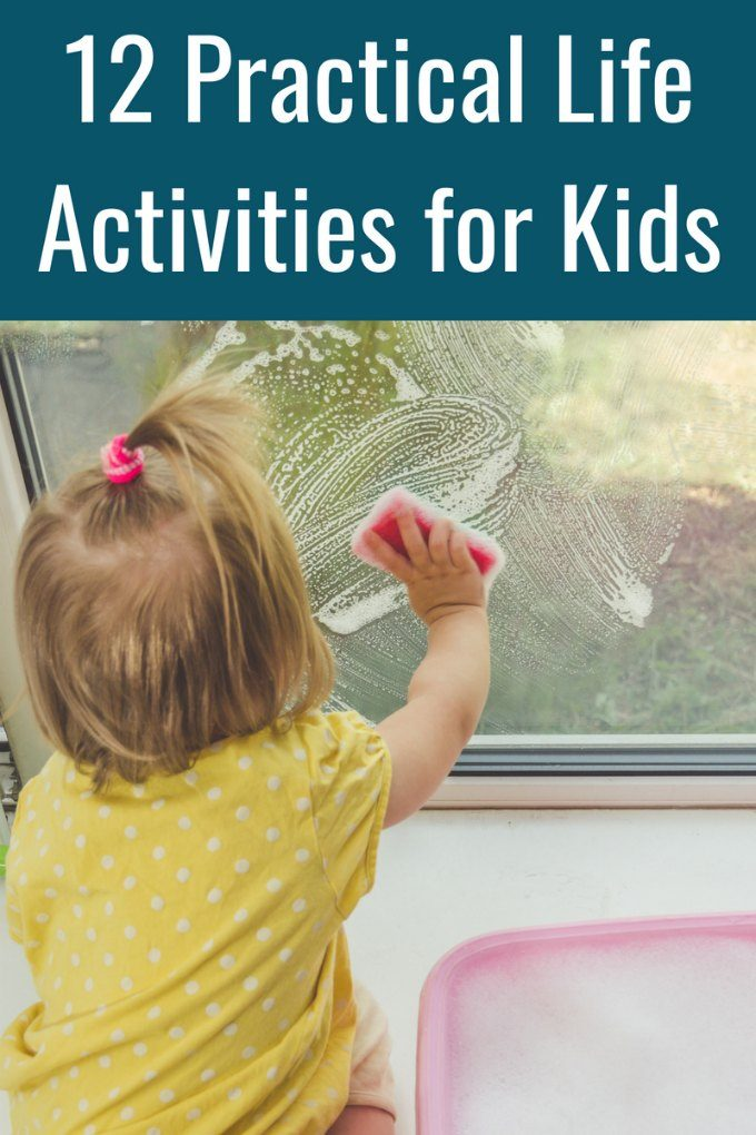 Practical life Montessori activities for kids