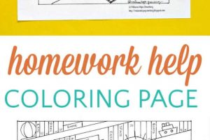 Cute Classroom Coloring Page: Homework Help from the Teacher