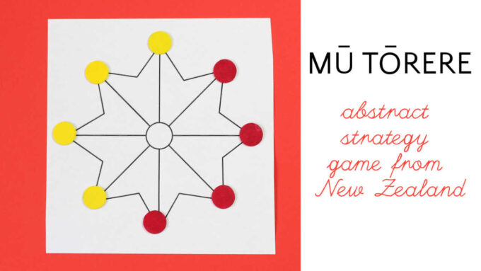 Mu Torere board game from New Zealand