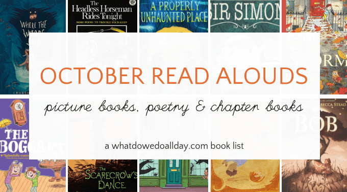 List of books to read aloud to children in October