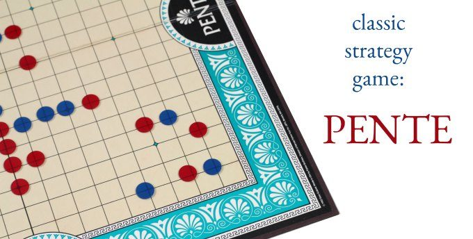 Pente game - classic abstract strategy board game for the family