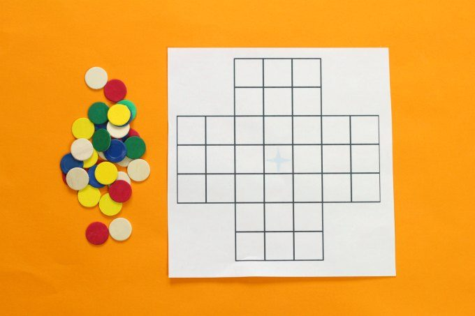 Printable peg solitaire puzzle game board
