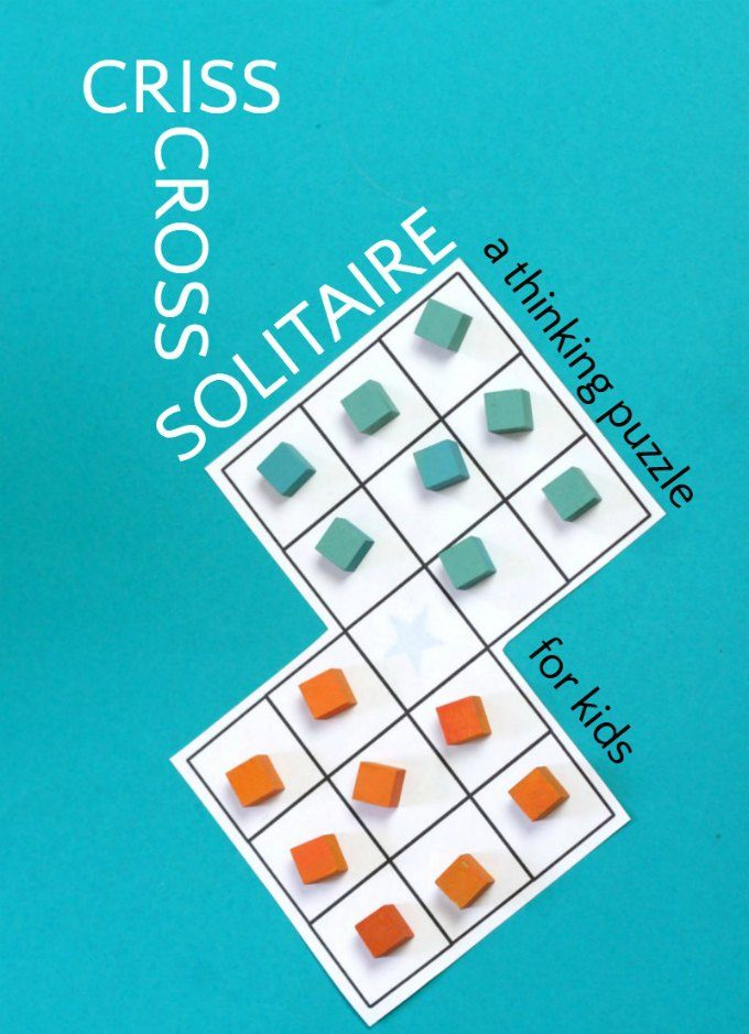 Fun solitaire thinking game for kids. This puzzle enhances visual perception skills and improves a child's patience as they work to find the solution.