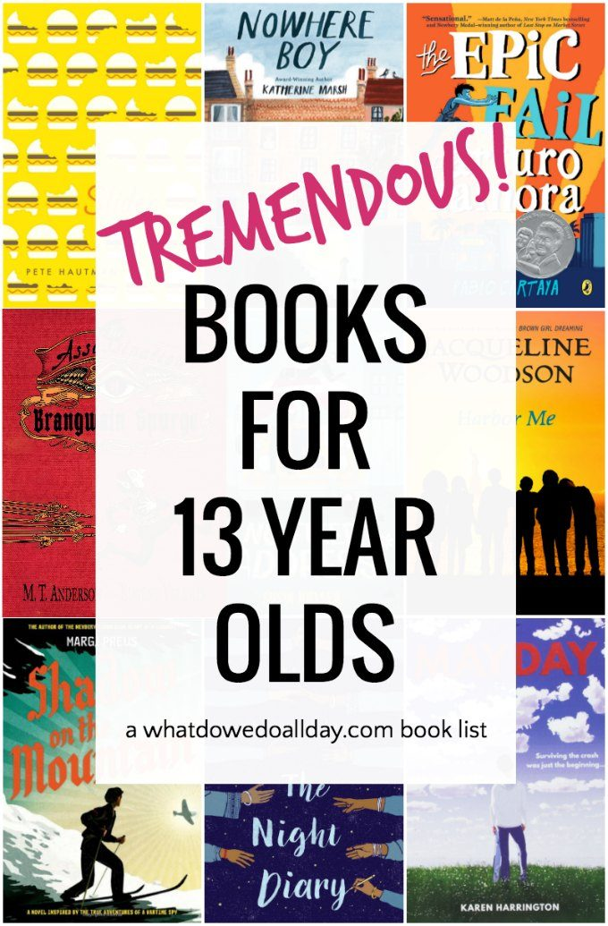 Book list for 13 year olds.