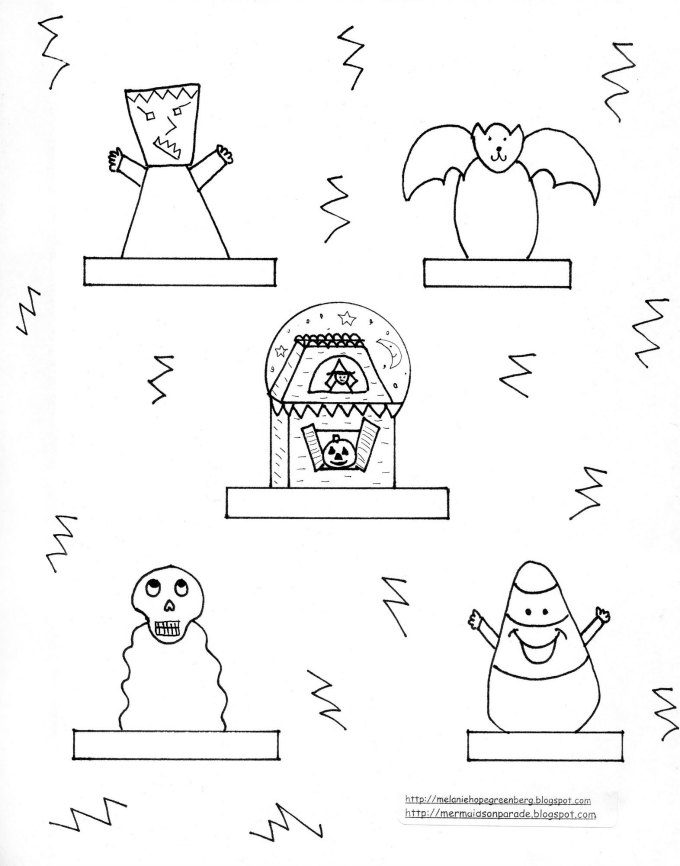 photograph relating to Halloween Printable named Printable Halloween Finger Puppets in the direction of Really encourage Fake Engage in