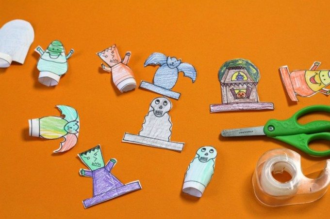Diy finger puppets for Halloween fun