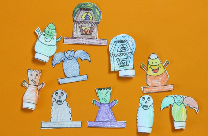 Printable Halloween Finger Puppets To Inspire Pretend Play
