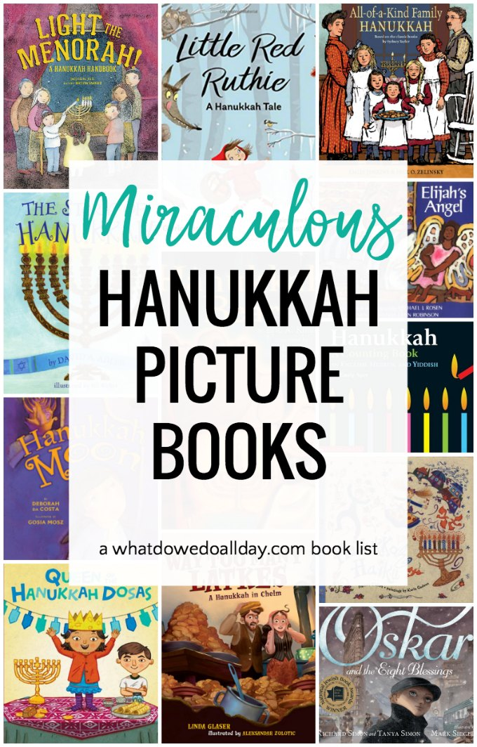 Fantastic Hanukkah children's books. Picture books that tell the Jewish story of the Maccabees as well as fiction stories about families celebrating Hanukkah. #hanukkah #childrensbooks