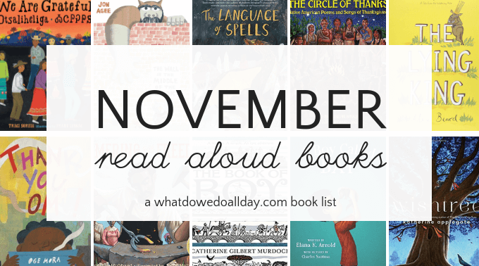 November read aloud books for the classroom and families