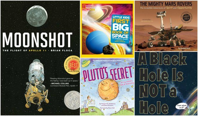 Science picture books about space