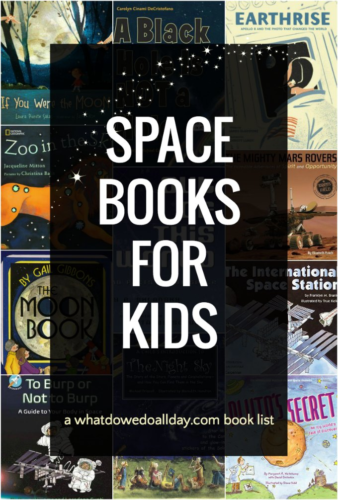 Children's books about space. These space books for kids cover everything from the stars and planets, to the moon and astronauts, black holes and everything in between. Click through to see the whole list.