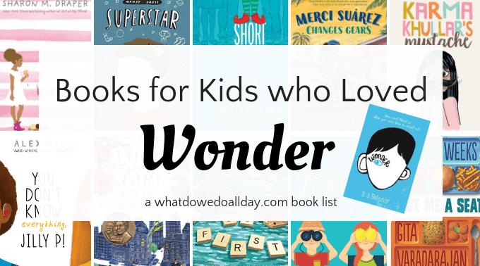 Books for kids who like Wonder