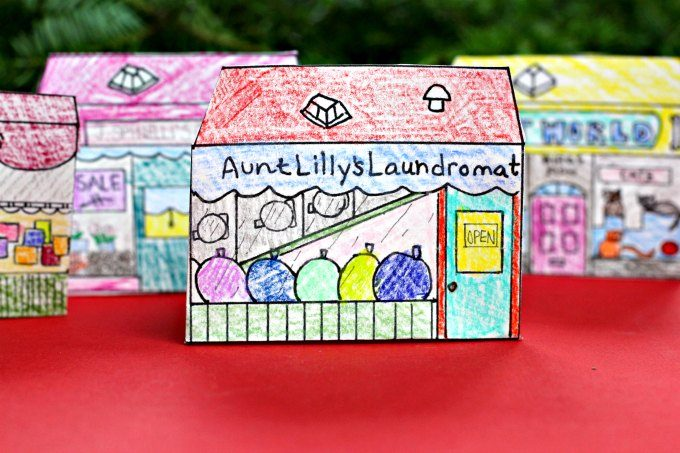 Aunt Lilly's Laundromat playable coloring page