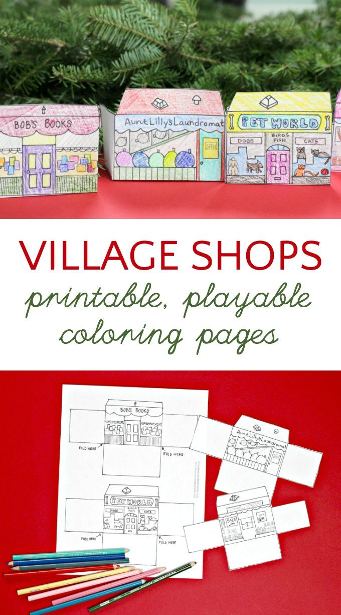 Village shop coloring pages free printable
