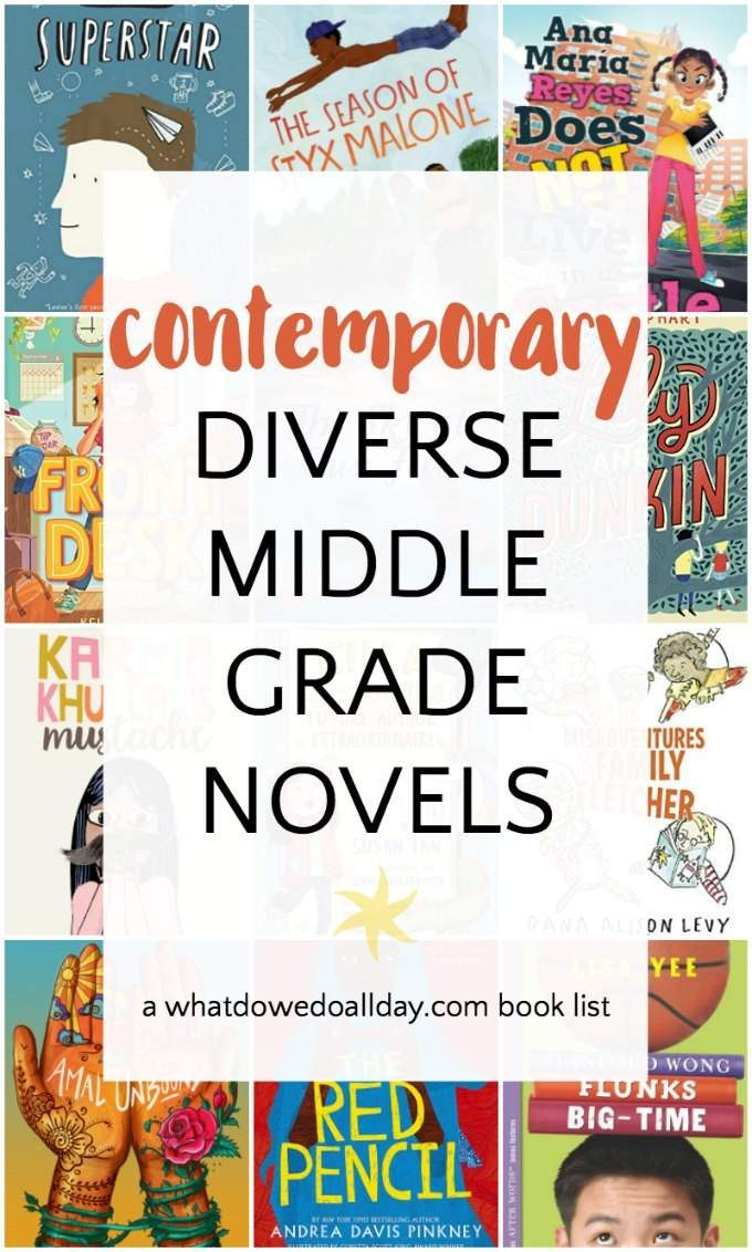 Diverse middle grade realistic fiction books