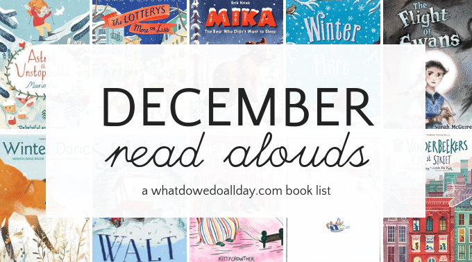 December read aloud books for kids and families