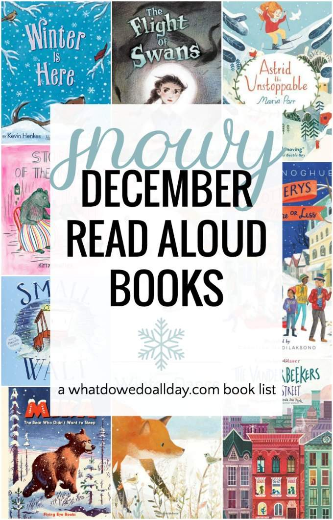 Wonderful December read aloud books. The children's books on this list includes picture books, poetry and chapter books. Connect with your children during December by reading one or all of these uplifting books, perfect to read aloud to the whole family. #childrensbooks #readaloud