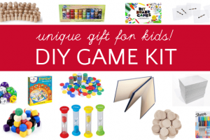 Diy game board kit makes a creative gift for kids
