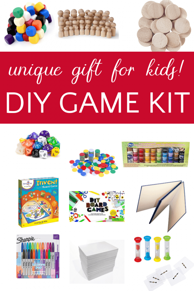 Unique gift idea for kids: make your own game kit