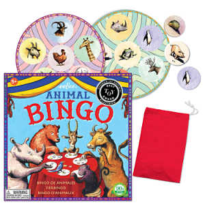 Animal bingo game by eeboo