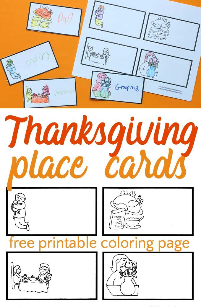 Cute Thanksgiving printable place cards