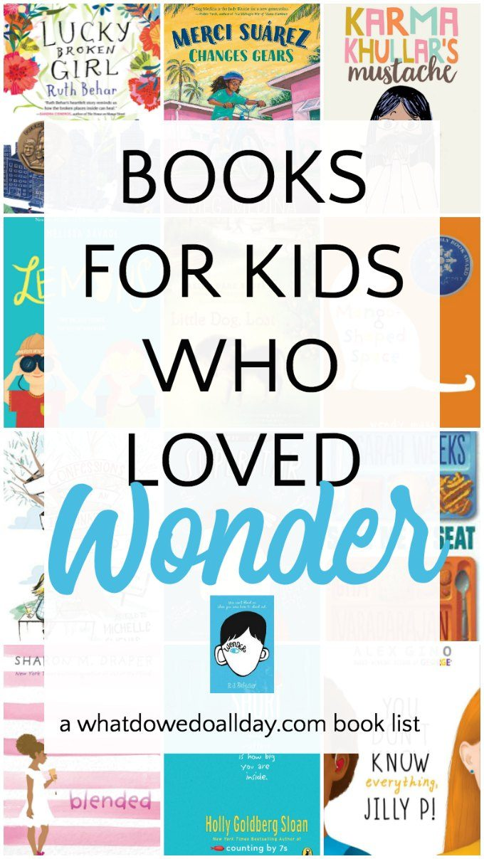 Books for kids who loved Wonder