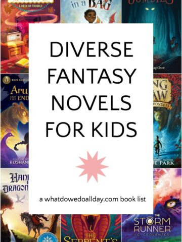 Middle Grade fantasy novels with diverse characters and backgrounds