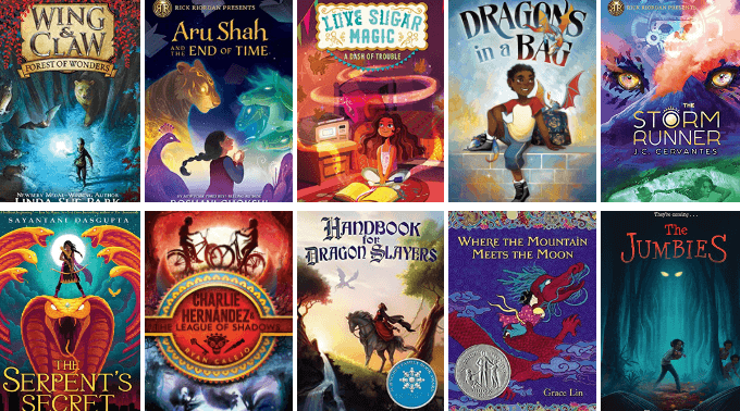 Diverse middle grade fantasy book list