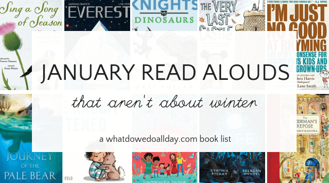 January read aloud books for kids and families