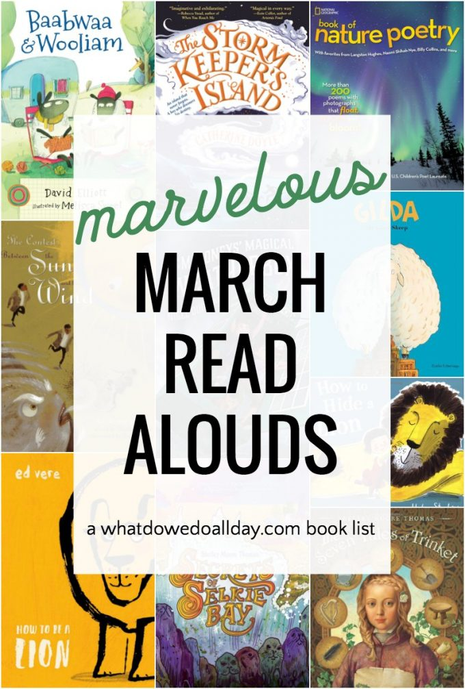 Books to read aloud in March