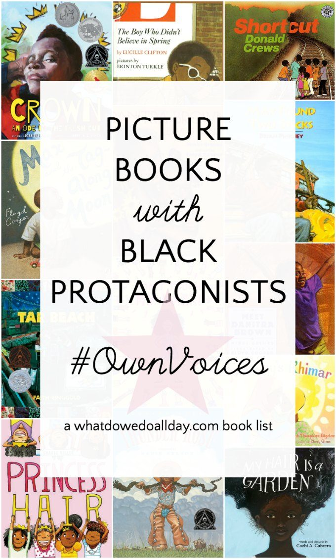 Black children's books featuring black protagonists and OwnVoices authors