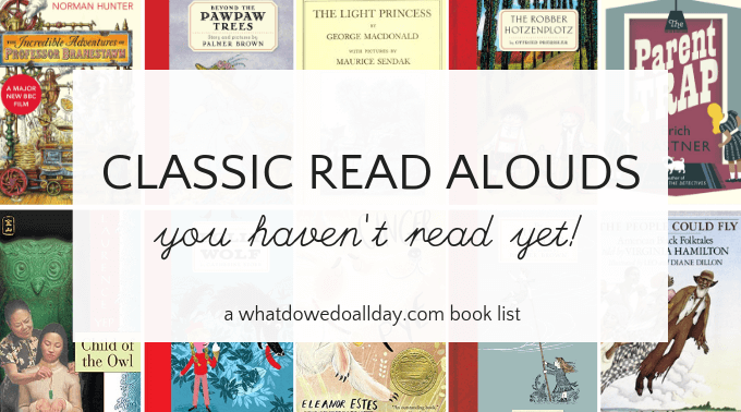 Classic read aloud books for children and families