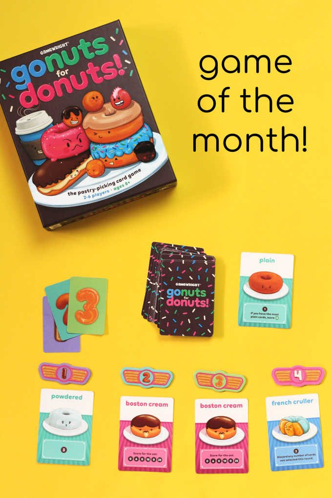 Go nuts for donuts card game for families