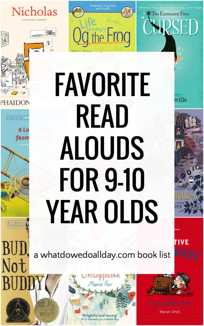 Favorite and Funny Read Aloud Books for 9-10 Year Olds