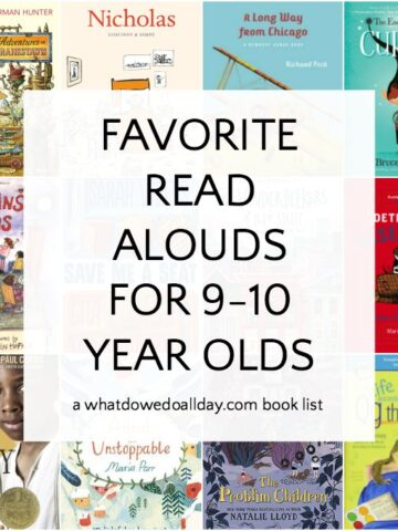 A list of books to read aloud to 9-10 year olds