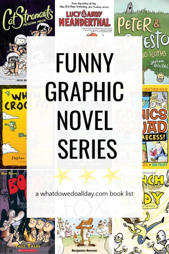 Funny comics and graphic novel books for kids
