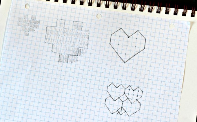 Trying to figure out how to draw a heart shape that would tessellate
