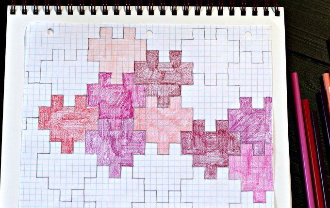 Colorful graphing tessellations in the shape of hearts